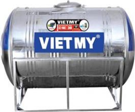 Bồn nước Inox Việt Mỹ 2000 lít ngang