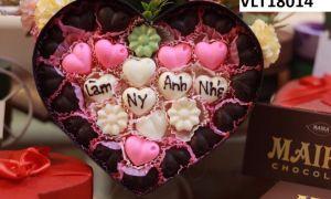 Bán buôn socola Valentine khắc chữ mẫu đẹp, giá rẻ | MAIKA CHOCOLATE