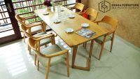Bộ bàn ghế ăn gỗ sồi Nga cao cấp, hiện đại số 1 Hà Nội tại Nghĩa Furniture