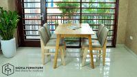 Những bộ bàn ghế ăn bằng gỗ đẹp - hiện đại tại Nghĩa Furniture