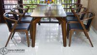 Bộ bàn ăn 901-3382 | Mẫu bàn ăn đẹp bằng gỗ , sang trọng