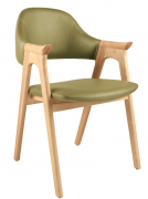 Ghế HF-2106 gỗ ASH cao cấp xanh lá