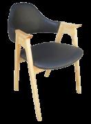 Ghế HF-2106 gỗ ASH cao cấp nâu ghi