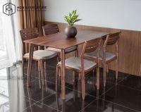 Bàn ghế ăn óc chó Classic 1m4 - Vega
