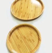 Khay đĩa tròn tre