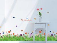 Decal hàng rào các loài hoa