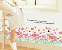 Decal Hàng rào hoa