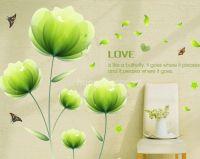Decal Hoa Cát tường xanh