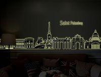 Decal dạ quang Thành Phố  Saint Peterburg