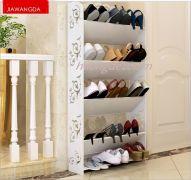 Kệ giày dép hoa văn 5 tầng size 63x120x17 cm