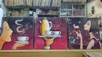Bộ tranh ghép cà phê số 2