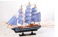 Thuyền buồm ( buồm màu xanh )