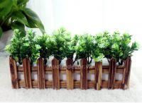 hàng rào hoa ( gỗ nâu )