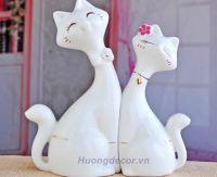 Vợ chồng mèo sứ