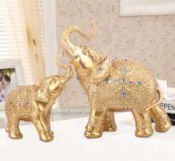 Đôi voi (mạ vàng)