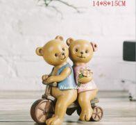 Đôi gấu Teddy đi xe đạp