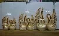 Đôi thiên nga mạ vàng ( 3 size)