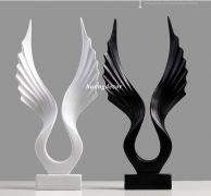Đôi cánh thiên thần ceramic cao cấp  (trắng hoặc đen)
