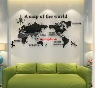 Decal 3D Bản đồ thế giới