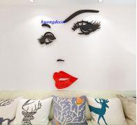 Decal 3D Khuôn mặt cô gái