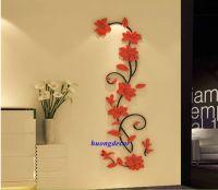 Decal 3D Hoa hồng đỏ