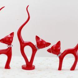 Set 3 chú mèo đỏ