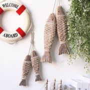 Đôi cá gỗ nâu ( size to)