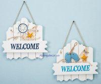 bảng Welcome gỗ trắng (2 kiểu)