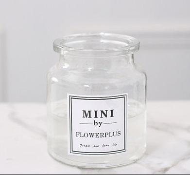 Bình hoa thủy tinh trắng
