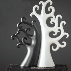 Bộ cây pachia ceramic đen trắng