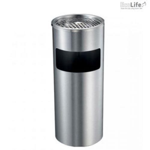 Thùng rác inox có gạt tàn ECO118