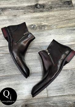 Boot nam CRAZIM Khóa Nâu