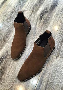 Boot Chun Da Lộn Nâu