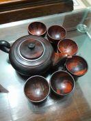 Bộ ấm trà gỗ hương cẩm