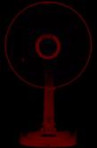 Quạt bàn Vinawind QB400-NSĐ sải cánh 400mm, có đèn