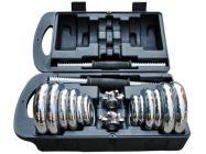 Tạ tay tháo lắp mạ Crôm BoFit (Hộp 30kg)