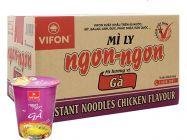 Thùng 24 ly mì gà Vifon Ngon Ngon 60g