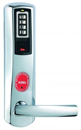 Khóa cửa mở bằng vân tay và mật mã Adel US3-8908 màu bạc
