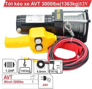 Tời điện kéo xe ATV 3000LBS -12v