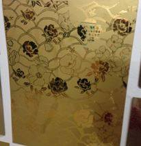 Inox hoa văn hoa hồng vàng
