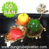Khay trưng bày 3 lá mạ vàng cao cấp 0155