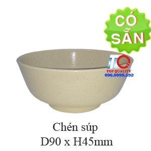 Chén soup melamine màu nâu đá B419-3.5