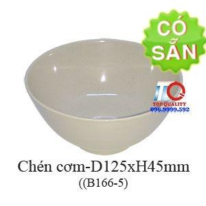 Chén cơm melamine màu nâu đá B166-5