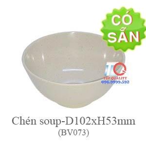 Chén soup melamine màu nâu đá BV073-4