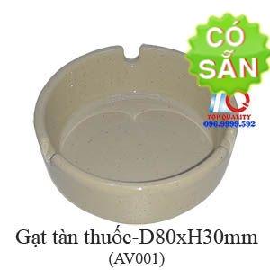 Gạt tàn thuốc malamine màu nâu đá AV001-3.5