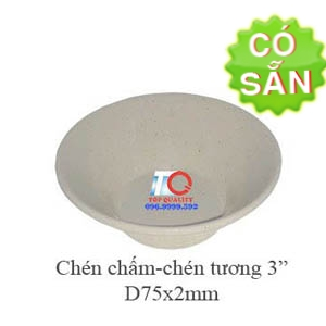 Chén tương melamine nâu đá D6079-3