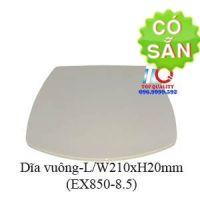 Dĩa melamine vuông màu nâu đá EX850-8.5
