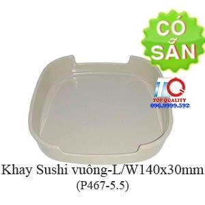 Khay dĩa melamine vuông đựng sushi P467-5.5
