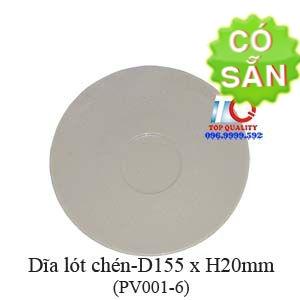 Dĩa lót chén melamine màu nâu đá-PV001-6