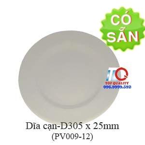 Dĩa cạn size lớn melamine nâu đá-PV009-12